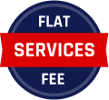 Flat Services Fee Badge
